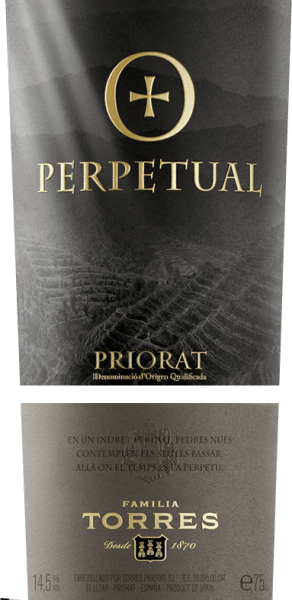 The Perpetual by Miguel Torresis a powerful composition of Cariñena and Garnacha Tinta and presents itself in a deep dark red. This red wine pampers with enormously complex aromas of berries and lavender, integrated in pleasant roasted notes as well as nuances of sandalwood and mossy forest soil. This Spanish red wine is round, soft and full-bodied, with very concentrated notes of red fruits and well-integrated tannins. The reverberation is particularly long and convinces with its light fruit. Vinification of Miguel Torres Perpetual The grapes are mashed for 32 to 35 days after harvesting and fermented under temperature control (27 °C) in a stainless steel tank. This red wine is then aged for 16 months in new French oak barriques. Bottle filling takes place in April. Food recommendation for the Miguel Torres Perpetual This dry red wine from Spain is a great treat with wild ragouts or with wild roasts in dark sauce, medium-froasted beef fillet with potato celery stew or with spicy cheeses.