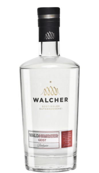 The raspberry spirit of Walcher is an incomparable fruit brandy with a very special intensity of taste and aroma. The Walcher distillery is located near Bolzano, where a mild and Mediterranean climate prevails. Summers are hot and winters mild, which means optimal conditions for fruit trees to produce fully ripe fruits. Production of the raspberry spirit of Walcher This raspberry spirit is made exclusively from hand-picked and fully ripe organic fruits. This ensures the intense fruit taste of this South Tyrolean spirit. Serving recommendation for the raspberry spirit of Walcher Enjoy this pure fruit brandy, for example as a digestif at a temperature of 8 ° Celsius.