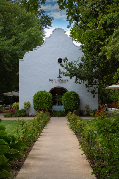 The old wine cellar of Rust en Vrede is now a restaurant.