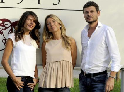 Chiara, Anna und Antonio Brisotto