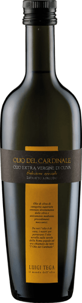 The Olio del Cardinale by Luigi Tega is an extra virgin olive oil made from Leccino, Frantoiano and Moraiolo. This olive oil is green with a golden shimmer and reveals the aromas of fruity olives with notes of herbs and artichokes. Olio del Cardinale is a harmonious, fruity oil with subtly bitter nuances. Luigi Tega's high-quality oils from Umbria are among the best in the world and regularly receive high awards. Recommended use for the Olio del Cardinale by Luigi Tega This extra virgin olive oil is perfect for pasta, meat, fish, vegetables and legumes.