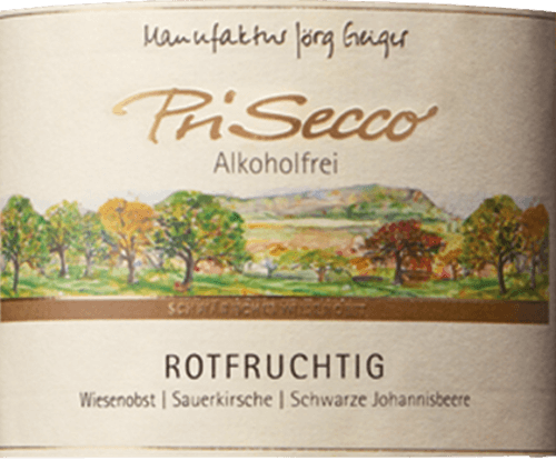 The Prisecco red-fruity from the Jörg Geiger factory is presented in the glass in a bright ruby red and enchanted with the aromas of sour cherries, black currants and elderberries. These aromas are rounded off by lime. This non-alcoholic fruit cocktail shows the palate the slightly tart note of quince with refreshing, fine carbonic acid. Production of the Prisecco red-fruity from the manufacture Jörg Geiger The fruits of PriSecco come from the scenic orchards at the foot of the Swabian Alb. The juice of hand-picked apples from organic farming forms the basis for this non-alcoholic cocktail. Other ingredients include pear juice, sour cherry juice, blackcurrant juice, elderflower juice, quince juice, lime juice concentrate and spices. Food recommendation for the Prisecco red-fruity from the Jörg Geiger factory Enjoy this Prisecco as an aperitif or with desserts with berries, such as red groats with vanilla ice cream.