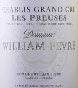 "The Chablis Grand Cru Les Preuses Domaine AOC by Domaine William Fèvre is already a masterpiece. In the glass, this Burgundy white wine presents floral, fruity aromas and intense mineral notes, with light smoky spicy hints. Very round and soft on the palate, complex, full-bodied and refined, with elegant structure and acidity. Long, intense, silky finish. A masterful Grand Cru Chablis with maturity potential! Vinification of the Chablis Grand Cru Les Preuses The winery Domaine William Fèvre is considered as the best of Chablis's winery. The chief oenologist of William Fèvre has made it his task to ""let the wine speak through his terroir. The wines convince with terroir and sorts-typical minerality and finesse.The Chardonnay grapes for the Chablis Grand Cru Les Preuses are cultivated in the Domaine's homonymous position and are selectively read manually to vinify only the best vine. After the harvest, the grapes are gently pressed and temperature-controlled fermented and matured. The wine ripens 14 to 15 months, of which 50 to 60% of the vintage in used French oak barrels, the remaining must in stainless steel vats. From 5 to 6 months the wine in the wooden barrels stays on the fine yeast (sur lie). The end of the maturationoccurs in small stainless steel tanks. Food pairing for the Chablis Grand Cru Les Preuses by Domaine William Fèvre This compact, complex French Chablis Grand Cru fits very well to fish and shellfish, seafood and sea fish, poultry and white meats, grilled or with sauces. Try the perfect combination with lobster ravioli! Awards The Wine Advocat Robert Parker - 92 points for 2015"