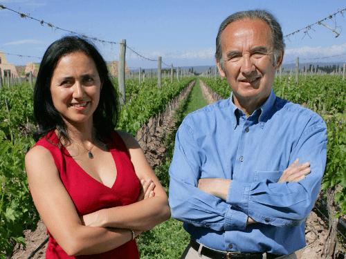 Nicolas Catena mit seiner Tochter Laura