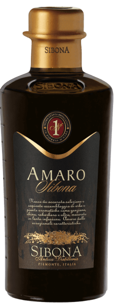 The Amaro Sibona by Antica Distilleria Sibona is a unique herbal liqueur with exceptional properties, produced according to an ancient Piedmontese family recipe, spicy on the nose, mild and aromatic in taste. 34 different herbs, medicinal herbs and aromatic plants, such as gentian, real millennial herb, rhubarb and other herbs are used.The ingredients are slowly macerated in their special composition for several weeks and then subjected to maturation. Recommendations for the Amaro Sibona from Antica Distilleria Sibona Enjoy this fine Piedmontese herbal liqueur from the historic Distilleria Sibona neat or on the rocks or with ice creams and desserts or as a refined ingredient in risotto. Awards International Spirits Competition 2013 - Great Gold International Spirits Competition 2016, 2015, 2014 and 2012 -Gold