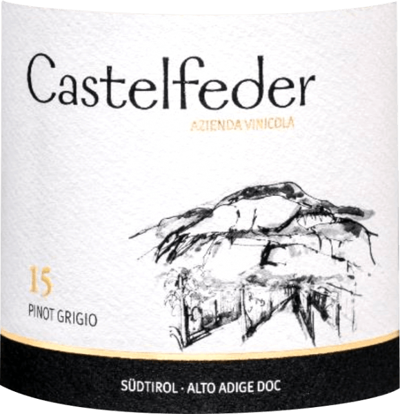 The Pinot Grigio 15 by Castelfeder shines in the glass in a light straw yellow with golden highlights. Fruity and fresh aromas unfold in the nose. Clearly in the foreground are crisp apples followed by juicy Abé Fetel pears and subtle hints of quince and peach. On the palate, this Italian Pinot Gris from South Tyrol convinces with a balanced body and crisp and dense character. The long lasting, harmonious finale of the Pinot Grigio 15 is accompanied by nuances of apples. Vinification of the Castelfeder Pinot Grigio 15 This Pinot Grigio 15 comes from the Unterlander vineyards in South Tyrol, where the grapes of Castelfeder grow on sandy limestone gravel soils. After hand-picking, the grapes are gently pressed and the must is fermented in a stainless steel tank. After fermentation, the Pinot Grigio 15 matures for another 6 months on the fine yeast until it finally comes onto the bottle. Food recommendation for the Castelfeder Pinot Grigio 15 Enjoy this dry white wine from Italy with fresh summer salads with seafood or chicken breast or with lightly seasoned dishes with light meat. Awards for the Pinot Grigio 15 by Castelfeder Falstaff: 92 points for 2018 Bright, bright lemon yellow with a light pink touch. In the nose for flint and lemony nuances, must be ventilated. On the palate very fresh, opens on elegant notes of pink grapefruit, juicy and salty, with bite, supported in the finale by medium structure.