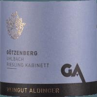 Preview: Uhlbacher Götzenberg Riesling Kabinett 2020 - Aldinger