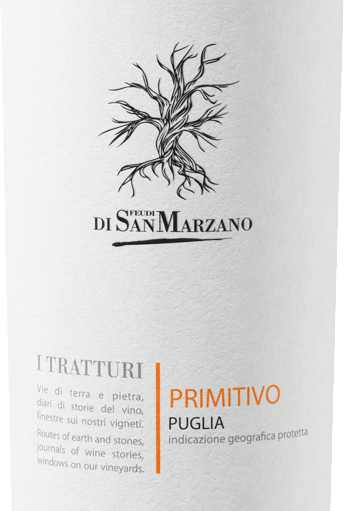 The I Tratturi Primitivo from Cantine San Marzano is an uncomplicated, grape varietal red wine from the Italian wine region of Puglia. In the glass, this wine appears in a full ruby red with violet highlights. Fruity aromas unfold in the nose, with black cherries, plums and ripe plums coming to mind first. Add shades of vanilla and rosemary. On the palate, this Italian red wine flatters with dominant fruit, complemented by Mediterranean herbs and sweet spices. A full body and soft tannins provide an absolutely drinking and sweet impression that lasts a long time in the reverberation. Vinification of the Cantine San Marzano I Tratturi Primitivo The Cantine San Marzano belongs to a cooperative of around 1500 winemakers who have contributed to the economic recovery of the Puglia wine region to the greatest extent. Various grape varieties have been cultivated for more than 3,000 years. The Cantine San Marzano team led by Mauro di Maggio benefits from the diversity of native varieties and excels in varietal purity as well as in cuvette products. Unique soil conditions naturally reduce the harvest and intensify the quality of the wines. The warm scirocco and high levels of sunlight make it difficult for fungi and insects to grow without pesticides. In the steel tank fermentation is carried out under strict temperature controls and rolling fermentation tanks allow this wine to mature. Food recommendation for the I Tratturi San Marzano Primitivo We recommend drinking this wonderful red wine from the south of Italy at a temperature of 15-17°C with short-roasted meat, braised vegetables or pasta with spicy sauces.