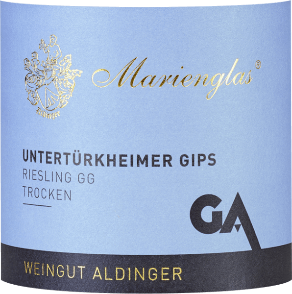 The large Riesling plant from Aldinger from the Untertürkheimer gypsum comes from the fillet piece Marienglas. In the glass it comes with beautiful platinum yellow and white gold reflections. The first nose shows a lot of yellow stone fruit such as mirabelle and apricot, supplemented by mandarin and grapefruit. The impressive bouquet of this lace giant from Württemberg is perfectly rounded off by hints of almonds and delicate nuances. On the palate, the Marienglas-Riesling GG is intense, concentrated, dreamlike penetrating and wonderfully salty mineral. A fine melt allows this tip giant to skilfully jump over the tongue and flow into a very long and complex finish. Great art and absolutely top rated. Vinification of the Aldinger Untertürkheimer gypsum Pinot Blanc This Riesling from the Große Lage Marienglas Untertürkheimer gypsum is fermented exclusively spontaneously and stormy (i.e. without cooling) in a large wooden barrel, which gives the wine enormous depth and complexity, but for the winemaker carries a high risk. If the wrong yeast strains prevail during fermentation, the wine will develop faulty tones. After fermentation, the Untertürkheim gypsum Marienglas Riesling matures for a full 10 months on the whole yeast before it is bottled and placed on the market on 1 September of the following year. Food recommendations for Marienglas Riesling Large plants from Aldinger Enjoy this extraordinary lace giant with spicy poultry dishes, seasoned meat or lamb and shortroasted Duroc or Ibérico pork. Awards for Riesling Großes Gewächs Untertürkheimer Gips Marienglas by Aldinger Gault Millau: 94 points for 2018 Falstaff Wine Guide: 93 points for 2018 Eichelmann: 92 points for 2018 Vinum: 92 points for 2017