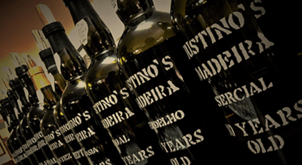 Madeira Wine in its classic bottles