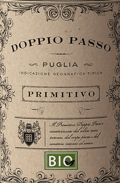 The Doppio Passo Bio Primitivo from Puglia from the Carlo Botter winery impresses with its deep ruby red and its rich, fruity nose. The organic Doppio Passo presents itself as a full-bodied organic red wine with a dense nose full of black fruits such as blackberries and sour cherries, complemented by inviting roasted aromas. On the palate, the Doppio Passo Bio Primitivo starts concentrated, full and characterized by great fruitiness and beautiful, creamy melting. The concentrated aromas of the nose are also reflected in the taste and guarantee together with a fine fruit sweetness for a long finish. Vinification of the Doppio Passo Bio Primitivo This organic red wine gets its full-bodied taste through a second fermentation. While some of the Primitivo grapes are still allowed to ripen and intensify on the vine, the first part, fresh and fruity, is fermented in a stainless steel tank. After the first fermentation, the late harvested grapes are added to the mash to start a second fermentation there. The primitivo thus gains incredible abundance and structure.For the Doppio Passo, only the best grapes grown according to organic standards are vinified. A wonderful Doppio Passo in organic quality. Food recommendation for the Doppio Passo Bio Primitivo Puglia We recommend the Doppio Passo Bio-Primitivo with dark meat such as Ossobuco or lamb shashlik and with strong pasta dishes with red meat and mushrooms.
