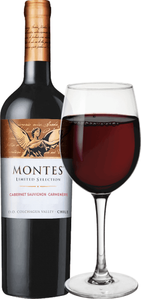 The Limited Selection Cabernet Sauvignon Carmenère from Montes is a wonderful red wine cuvée from the Cabernet Sauvignon (70%) and Carmenère (30%) grape varieties. In the glass, this wine appears in a bright ruby red and purple reflections. The bouquet of this Chilean top red wine convinces with a lot of ripe blackberry, cherry and elderberry fruit, complemented by notes of tobacco, coffee, vanilla, spices and butter caramel. On the palate, this wonderful red wine cuvée from Chile presents itself gently with soft, subtly extract-sweet fullness and a full yet elegant body. The harmoniously round finale convinces with a lot of length. Vinification of the Limited Selection Cabernet Sauvignon Carmenère The Cabernet and Carmenère grapes for this red wine from Chile are grown under perfect conditions in the Vale Apalta, a sub-region of the Colchagua Valley. These are read at the time of perfect maturity. After assembling the final Cabernet Sauvignon - Carménère Cuvée, about 47% of the wine matures for 10 months in American oak barriques. The remaining 53% remains in the stainless steel tank. After ripening, this wine is filtered and poured into the bottle. After a short rest on the bottle, this wine leaves the cellar of Montes. Food recommendation for Cabernet Sauvignon Carmenère Montes Limited Selection The Limited Selection Cabernet Carmenère from Montes is an excellent accompaniment to many meat dishes, also with oriental spices, with Chilean chicken egg pot or spicy and spicy rice stews. Awards for Limited Selection Montes Cabernet Carmenère Wine Spectator: 89 points for 2015 Robert M. Parker: 88 points for 2015