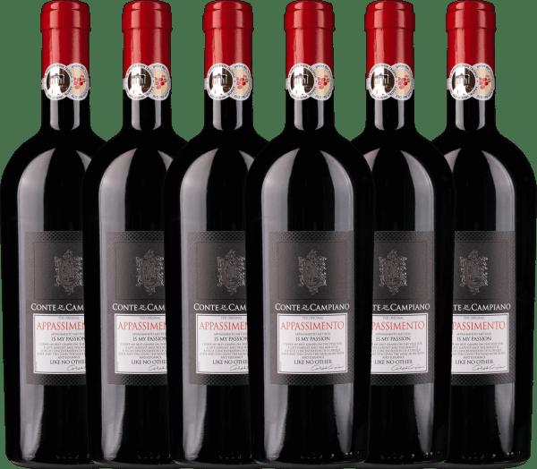 6er Vorteils-Weinpaket - Appassimento 2016 - Conte di Campiano