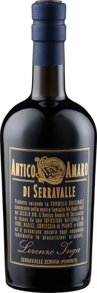 The Antico Amaro di Serravalle by Lorenzo Inga is a stimulating and ethereal Amaro from Piedmont. This herbal liqueur impresses on the palate with its hearty and spicy overall impression. Production of the Antico Amaro di Serravalle by Lorenzo Inga The Antico Amaro di Serravalle is created by infusing more than 20 herbs, plants, roots and tree barks into alcohol, sugar and water. This recipe dates back to 1832 and was developed by a Capuchin monk to create an herbal elixir to heal cholera in India. Serving recommendation for the Antico Amaro di Serravalle by Lorenzo Inga Enjoy this Amaro pure as a digestif.
