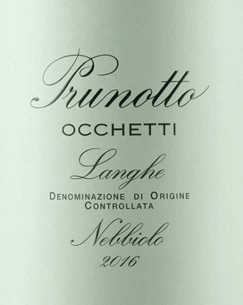 The Occhetti Nebbiolo Langhe DOC by Prunotto shines intensely ruby red in the glass with a tendency towards garnet red. Elegant notes of raspberry, rose petals and liquorice aromas unfold on the nose. On the palate, this Piedmontese Nebbiolo presents itself full-bodied, harmonious, with elegant, flattering structure and soft tannins. The finish is long and balanced sustainable. Vinification of the Occhetti Nebbiolo Langhe DOC by Prunotto The Nebbiolo grapes for this elegant, pure red wine from Piedmont grow at 250 m asl in a south-south-west orientation, the soils are characterized by not very deep sea sandy soils, with gravel layers mixed with clay and lime marl layers. The optimally ripened grapes are destemmed and pressed after manual harvesting, maceration and alcoholic fermentation over 7 days takes place at controlled temperatures of maximum 29°C, the malolactic fermentation is completely completed before the beginning of winter. After ageing in wooden barrels of different sizes of 18 months, the wine is bottled and rests in the bottle store for a few months before being sold. Food recommendations for the Occhetti Nebbiolo Langhe DOC by Prunotto Enjoy this elegant, fragrant Nebbiolo with warm appetizers, pasta, risotto, polenta and not with lush and heavy meat dishes. It is recommended to open the bottle 1 hour before serving. Awards for the Occhetti Nebbiolo Langhe DOC by Prunotto Gambero Rosso: 2 glasses for 2013 and 2014 I Vini di Veronelli: 89 points for 2014 Bibenda: 3 grapes for 2011, 4 grapes for 2012 James Suckling: 90 points for 2012 I Vini di Veronelli: 90 points for 2011