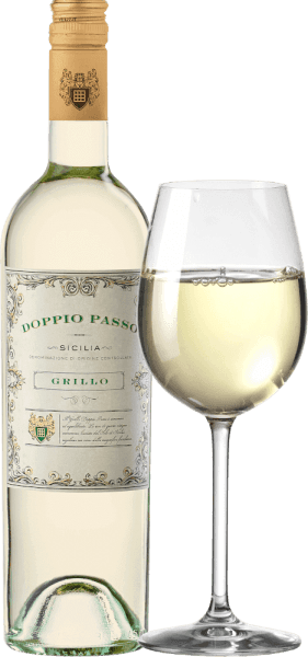 For Carlo Botter, the search for the perfect Doppio Passo white wine in Sicily has come to a happy end. The Doppio Passo Grillo Sicilia DOC from CVCB is an impressively fruity, fresh and balanced white wine cuvée vinified from Grillo and small parts of Cataratto and Chardonnay. In the glass this wine shines in a clear straw yellow with glittering highlights. The nose is skilfully taken in by an intense fruity bouquet. Juicy yellow stone fruits reveal themselves - especially apricot and peach - perfectly complemented by sun-ripened citrus notes. On the palate this Italian white wine convinces with a wonderful freshness, intensive fruit fullness and mild acidity. The full-bodied body also contributes to the fresh balance of this white wine and accompanies it into the pleasant, elegant finish. Vinification of the Doppio Passo Grillo The grapes - Grillo, Catarratto and Chardonnay - are selected by hand for the exceptional Doppio Passo Grillo. The easiest way to explain Doppio Passo is to use two work steps. In the first step, the grapes are harvested at the normal harvest time. For the second step, the grapes are left longer on the vines, which increases ripeness and concentration in the berries. In the first step, only Grillo is harvested for this white wine. In the second step, Catarrato and Chardonnay are added. Both grape harvests are brought together and fermented together in stainless steel tanks. Recommended food for the Doppio Passo Grillo by Carlo Botter Enjoy this dry white wine from Italy with white fish in fine lemon sauce, crunchy salads with fresh seafood, grilled vegetables or all kinds of antipasti variations.