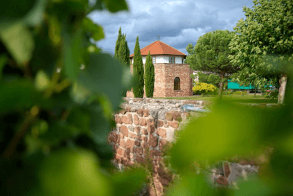 The Römerturm, the wine cellar of the estate