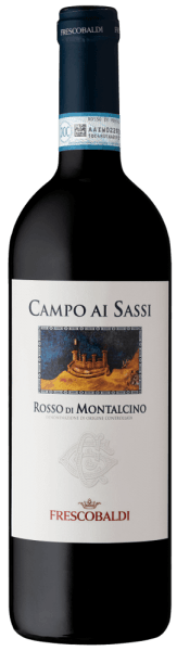 Campo ai Sassi Rosso di Montalcino DOC by Tenuta di CastelGiocondo is a spicy, mineral red wine vinified from Sangiovese grapes in Tuscany (Italy). It impresses particularly with its harmonious fruitiness. A great drop for all lovers of dry wines! Tasting note/tasting of Campo ai Sassi  Campo ai Sassi Rosso di Montalcino DOC by Tenuta di CastelGiocondo  sparkles in a rich ruby red. The complex nose is full of fruit notes of cherry, blackberry, plum and forest fruits, complemented by mineral notes, roasted notes of cocoa and coffee as well as nuances of tobacco. On the palate, this wonderful red wine, made from Sangiovese grapes from Tuscany, looks warm and soft. This wine is wonderfully harmonious with smooth tannins well integrated into the structure. A long, sustainable finish with a fine fruity finish completes this spicy Italian wine. Vinification/production of Campo ai Sassi Campo ai Sassi is made from the Sangiovese grape variety. The grapes grow in rather young vineyards, whose wines are bouquet-rich and elegant, but contain less tannin than, for example, the grapes used for the production of Brunello. After harvesting, the grapes may ferment in the mash for 16 days. Immediately after alcoholic fermentation, malolactic fermentation is followed. The Campo ai Sassi matures for a total of 12 months:  partly in Slavic oak barrels of 80 and 100 litres capacity, partly in barrique barrels. This red wine spends the last 4 months in the bottle store. Here he can fully unfold his  complexity and harmony. Serving suggestion/Food pairing for  the Campo ai Sassi Rosso di Montalcino DOC At 16 to 18°C, it is a wonderful companion of mixed sausage plates, pasta with meat sauce and braised meat such as chicken or rabbit.