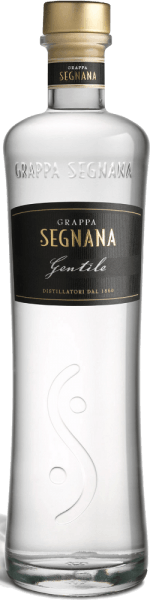 The Grappa Gentile by Segnana is a fine distillate, which consists mainly of the Chardonnay pomace of the winery Ferrari, but also contains red grape varieties that give the elegance of Chardonnay a fine touch.