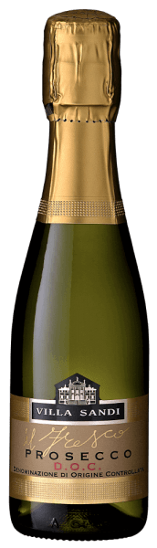 """Villa Sandi Prosecco il Fresco The il Fresco Prosecco Spumante DOC Brut by Villa Sandi has been voted Prosecco of the Year (Weinwirtschaft - Meininger Verlag) several times. It is and remains a really outstanding, crunchy-fruity recommendation! """"Großes Traubenkino""""writes the GQ magazine. TheProsecco il fresois the right Prosecco for the next family celebration, the right aperitif for a corresponding wine tasting or simply a nice meal. One of VINELLO's Prosecco bestsellers. Tasting note of Villa Sandiil Fresco Prosecco Spumante DOC BRUT It comes in a straw yellow colour with an extremely subtle, fine and silky perlage and a long-lasting, fresh mousseux.Il Frescomeans """"freshness""""! Aromas of fresh Granny Smith apples and Williams pears as well as cantaloupe melon appear in the nose and on the palate. In the mouth it looks fresh and sparkling and knows how to convince with its perfect sweetness/acidity game. Simply a grandiose, perfectly produced Prosecco spumante, which makes a good figure both as an aperitif and as an accompaniment to light dishes. Villa Sandi Prosecco il fresco Awards Ten times in a row, Villa Sandi's Il Fresco received the Prosecco of the Year award from the trade magazine """"Weinwirtschaft"""". Mundus Vini 2014: Gold forVilla Sandi Prosecco il fresco Wine industry: Prosecco des Jahres 2015, 2014, 2013, 2012,2011, 2010, 2009, 2007, 2006 & 2004 andbest sparkling wine in Italy 2008 """"Seems almost unbeatable as Prosecco Spumante in the German specialist trade. Stable quality, plus top-level equipment. """""""