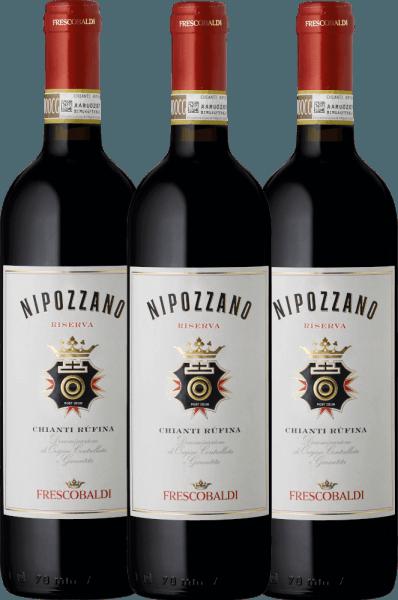 3er Vorteils-Weinpaket - Nipozzano Chianti Rufina Riserva DOCG 2017 - Castello di Nipozzano