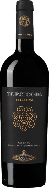 The Torcicoda Primitivo Salento IGT from Tormaresca sparkles in the glass in an intense ruby red and unfolds a complex bouquet, with aromas of ripe, plums and black cherries, followed by spicy notes of vanilla and dark chocolate. On the palate, this Primitivo is dry, gentle, balanced, of beautiful complexity, with present, soft tannins, pleasantly tasteful. Harmonious, appealing and long lasting in the final. Vinification of Tormaresca Torcicoda Primitivo Salento IGT The grapes for this pure Primitivo are harvested at the optimum ripening time. After pressing, the must is placed in stainless steel tanks, macerated and undergoes alcoholic fermentation on the shells at a controlled temperature of 26°C for a period of 15 days. During this process, the must consumes almost its entire sugar content. After subtraction from the peels and transfer to French and Hungarian oak barrels, malolactic fermentation follows, followed by ageing for 10 months in the same barrels. After bottling, the wine matures for another 8 months in the bottle before being sold. Food recommendation for Torcicoda Primitivo Salento IGT from Tormaresca Enjoy this beautiful red wine from Puglia with cold cuts, savoury pasta, game, braised lamb leg or medium-ripe to ripe cheeses. Torcicoda Primitivo Salento IGT Awards from Tormaresca Gambero Rosso: 1 glass for 2015, 2 glasses for 2014 Falstaff: 92 points for 2015 James Suckling: 91 points for 2015 and 2014 Wine Advocate Robert M.Parker: 90 points for 2013
